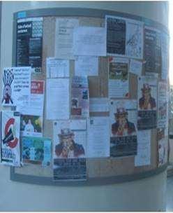 pegar carteles en facultades
