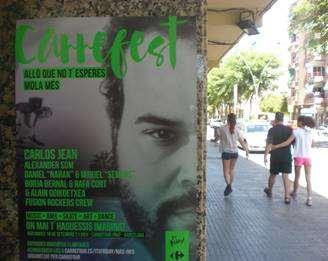 publicidad con carteles A3 en barcelona