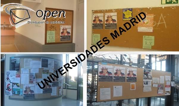 pegar carteles en universidades de madrid