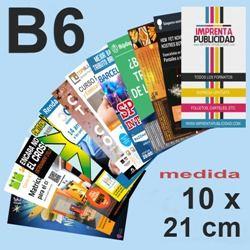 imprimir folletos B6 10 X 21 a 250PX